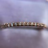 Rose Gold Micropave Diamond Band, by Single Stone 11
