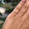 Rose Gold Micropave Diamond Band, by Single Stone 9