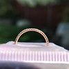 Rose Gold Micropave Diamond Band, by Single Stone 8