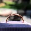 Rose Gold Micropave Diamond Band, by Single Stone 5