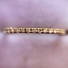 Rose Gold Micropave Diamond Band, by Single Stone 10