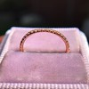 Rose Gold Micropave Diamond Band, by Single Stone 7