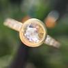 1.02ctw Rose Cut Diamond Bezel Ring, by Liseanne Frank 4