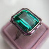 11.77ct Tourmaline Halo Ring by Leon Mege, AGL Cert 19