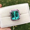 11.77ct Tourmaline Halo Ring by Leon Mege, AGL Cert 11