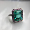 11.77ct Tourmaline Halo Ring by Leon Mege, AGL Cert 30