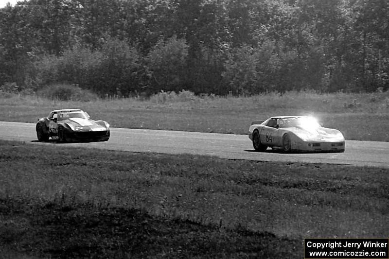 # 84 - 1984 SCCA GT1 - Doug Rippie leads # 24 Rick Dittman