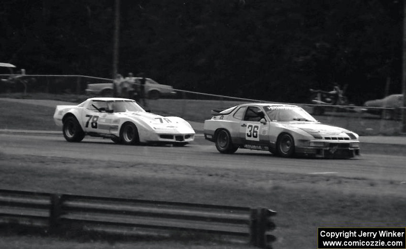# 78- 1982 SCCA TA - Paul DePirro chases Paul Miller in Porsche 924 turbo at Brainerd, finished 7th ahead of Mliler.