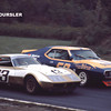 # 13 - IMSA, Lime Rock, 1973 - Mel Shaw passing Bob Dyer in University of Pittsburgh Javelin