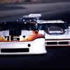 # 16 - SCCA TA, Sears Point, 1980 - Darren Brassfield in the ex-Pickett car (ex- Greenwood tubeframe) leading Joe Chamberlain in his home-built Carrier-sponsored widebody