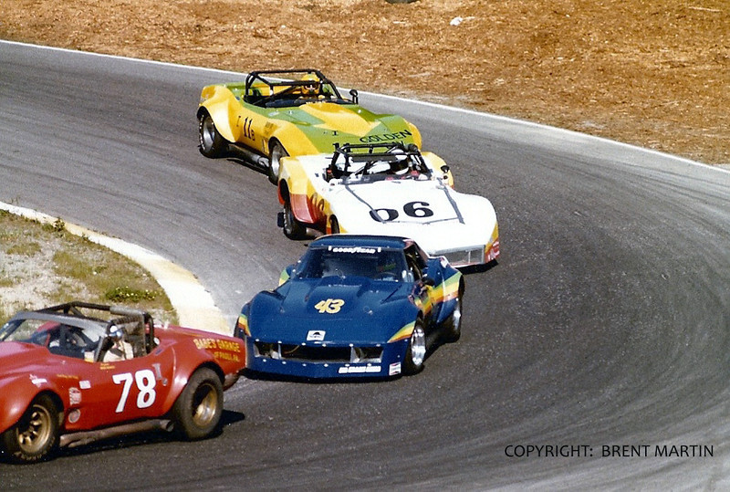 # 78, # 43, # 06, # 11 - 1978 SCCA TA - Babe Headley, Frank Joyce, Garry Pullyblank and Gary Carlin - at Westwood, B.C.