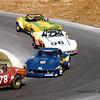 # 78, # 43, # 06, # 11 - 1978 SCCA TA - Babe Headley, Frank Joyce, Garry Pullyblank and Gary Carlin - at Westwood, B.C.
