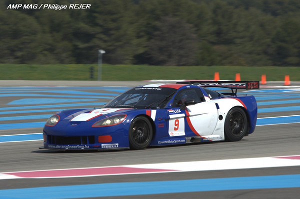 # 9 - 2009 FIA GT1 - DKR Racing C6R-002. Drivers are Jos Menten and Marcus Pelttala