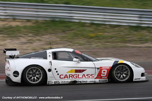 # 9 - 2009 FFSA GT3 - Luc Alphand Aventures C6R-004. Drivers are Soheil Ayari and Bruno Hernandez