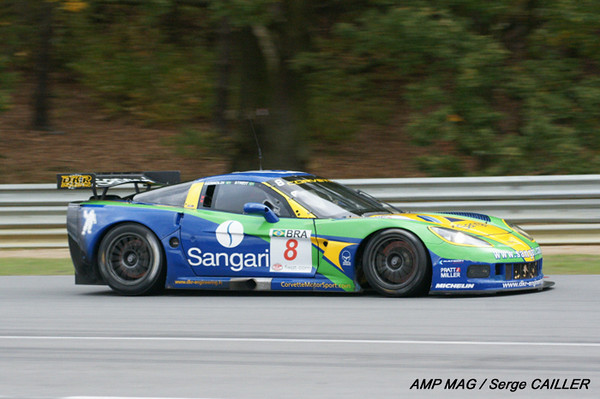 # 8 - 2009 FIA GT1 - Sangari/Team Brazil - ex-DKR C6R-002. The DKR team startd the year as # 9 with jos Menten and Marcus Pelttala driving. a new team was created with Sangari and the car was re-numbered as # 8, with drivers Ricardo Bernoldi and _ Streit. At the end of the year, the deal collapsed and DKR resumed ownership of the car.