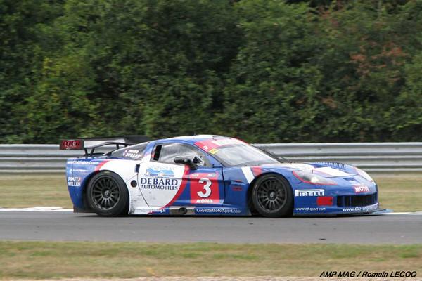 # 3 - 2009 FFSA GBT1 - DKR Racing C6R-002 - Drivers are Olivier Panis, Eric Debard and Kurt Mollekens.