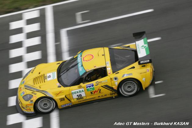 # 18 - ADAC GT3 Masters - 2010, Oschersleben II - Callaway Z06.R - Christian Hohenadel & Toni Seiler<br /> (car #19 not pictured driven by Augustin Elder & Jeorg Engelhardt)