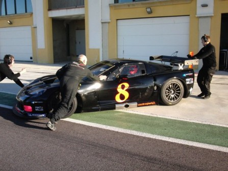 # 8 - 2010 FIA GT1 - Winter Testing for Mad Croc Racing. This car is the ex-DKR C6R-002 with jos Menten and Xavier Mässen as ultimate drivers