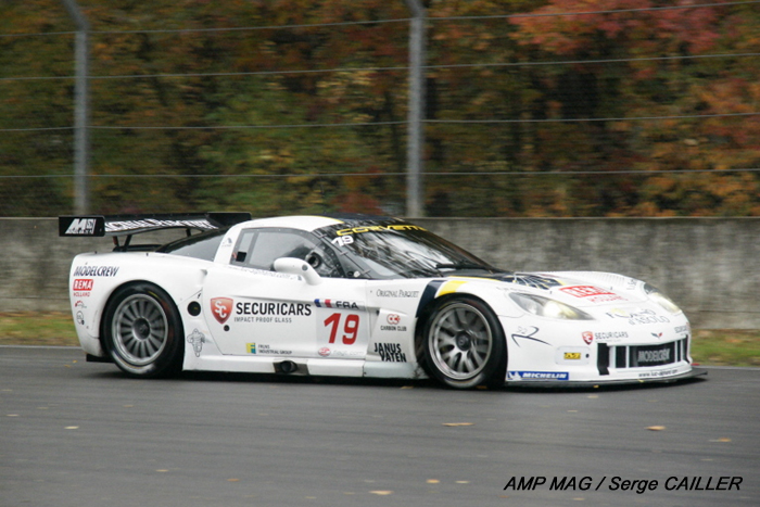 "# 19 - 2009 FIA GT1 - Luc Alphand Aventures C6R-004. Also raqn as # 72 at Le Mans 24 Hours race. Subsequently sold to the Baron de Rothschild, along with C6R-003. In 2010, Luc Alphand ""borrowed"" the ex SRT-006 andDKR-002 cars from the Mad Croc team to run LeMans."