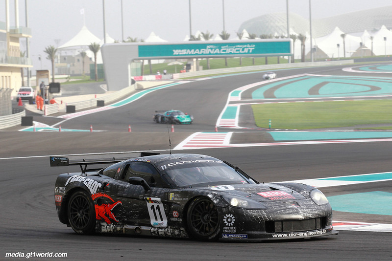 # 11 - 2010 FIA GT1 - ex-DKR C6R-002 - drivers are Xavier Mässen and Jos Menten, at Yas Marina, Abu Dhabi (UAE), April 2010