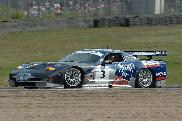 # 3 - 2001 SRO-Belcar GT Series - Selleslaugh Racing Team (SRT) C5R-007. Drivers are Goosens and Lamot. Car runs again in 2002 with the addition of Vannernum. Photo by Roger Pincus.