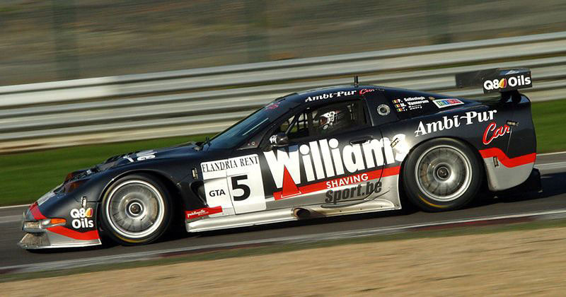 # 5 - 2002-03 SSRO0Belcar - Selleslaugh Racing (SRT) C5R-007. Drivers are (variously) Selleslaugh, Vannernum, Lamot and Goosens.