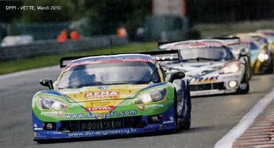 # 8 - 2009 FIA GT1 - Sangari Team Brazil (ex_DKR) C6R-002. Drivers were Jos Menten and Marcus Pelttala at the first race of the season (as DKR Team) but changed to Ricardo Bernoldi and _ Striet, under Sangari Team Brazil