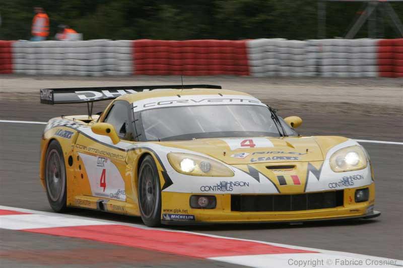 # 4 - 2006 FIA GT1 and 2007 ELMS - GLPK (Carsport) C6R-001. Drivers are Anthoney Kumpen, Bert Longin, Mike Hezemans, and Kurt Mollekens.