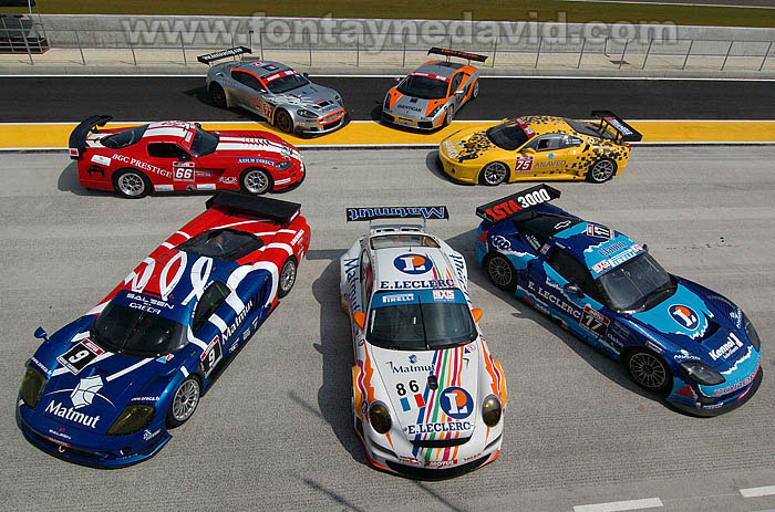 # 17 - 2007 FFSA GT1 - PSI C6R-011 - Drivers are Yvan Lebon and Christophe Bouchut. Shown here is a group photo for all marques in the series. Photos by David Fontayne..