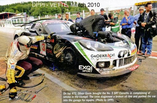 # 3 - 2009 FIA GT1 (Spa) - Selleslaugh Racing Team (SRT) C6R-006. Drivers are Burt Longin and James Ruffier.