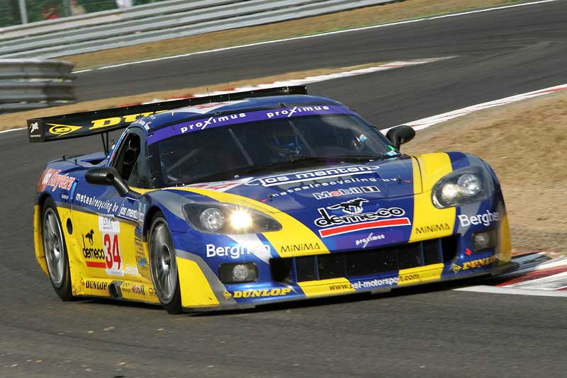 # 34 - 2006 FIA GT1 - PSI Experience C6R-002. Drivers are Jos Menten and Jean-Philippe Belloc as primary series entrants, plus Frederic Bouvy and Patrick Bornhauser for the Spa-Francorchamps 24 hour race.