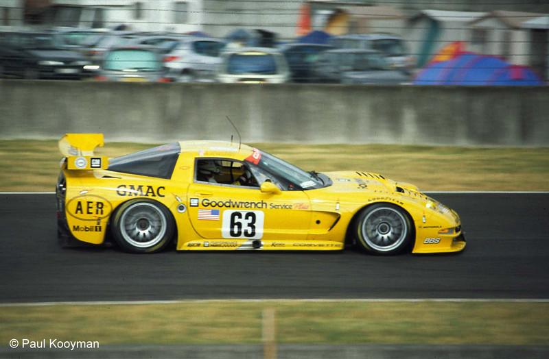 # 63 - 2001 FIA -ACO 24 Hours of LeMans, GT1 - Corvette Racing program C5R-003. Drivers are Ron Fellows, Chris Kneiffel, Johnny O'Connell, Scott Pruett. Photo by Paul Kooyman.