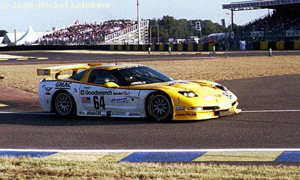 # 64 - 2000 FIA -ACO 24 Hours of LeMans, GT1 - Corvette Racing program C5R-002. Drivers are Andy Pilgrim, Kelly Colllins, Franck Freon. Photo by JM Lefebvre.