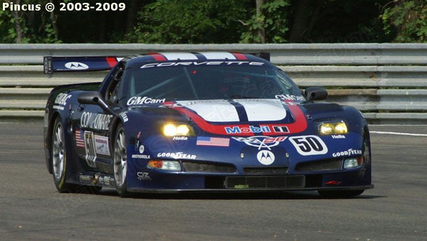 # 50 - 2003 FIA-ACO 24 Hours of Le Mans, GT1- Corvette Racing program C5R-008. Drivers are Ron Fellows, Johnny O'Connell and Franck Feon. Drives for the # 53 car were Oliver Gavin, Kelly Collins, and Andy Pilgrim.