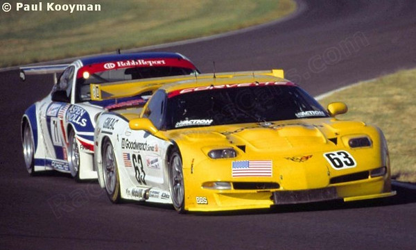 # 63 - 2000 FIA -ACO 24 Hours of LeMans, GT1 - Corvette Racing program C5R-001. Drivers are Ron Fellows, Chris Kneiffel, Justin Bell, Scott Pruett. Photo by JM Lefebvre.