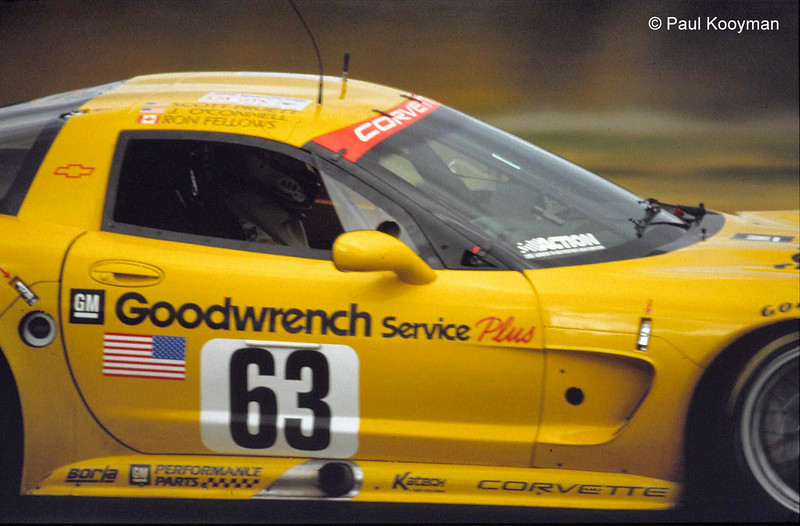 # 63 - 2001 FIA -ACO 24 Hours of LeMans, GT1 - Corvette Racing program C5R-003. Drivers are Ron Fellows, Chris Kneiffel, Johnny O'Connell, Scott Pruett. Photo by Paul Kooyman.