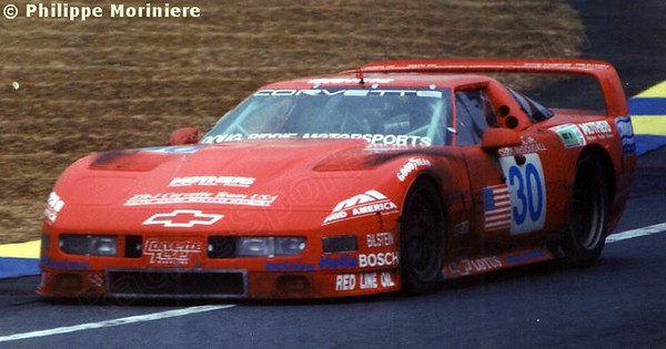 # 30 - 1995  FIA-ACO 24 Hours of Le Mans, GT1 class - All American Team ZR1,/Doug Rippie Racing. Drivers are John  Paul (Jr), Chris McDougall, and James Mero.