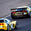 Corvette Racing, American Le Mans Series, Laguna Seca, Monterey, CA, October 20, 2007, C6.R #4 driven by Oliver Gavin and Olivier Beretta to first in GT1,  C6.R #3 driven by Johnny O'Connell and Jan Magnussen to second in GT1 (Photo by Richard Prince for GM Racing)