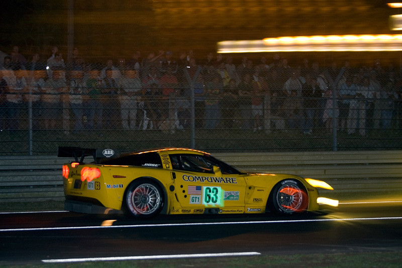 Corvette Racing, 24 Hours of Le Mans, June 18-19, 2005, C6.R #63 driven by Ron Fellows, Johnny O'Connell, and Max Papis, C6.R #64 driven by Oliver Gavin, Olivier Beretta, and Jan Magnussen. ©2005 Richard Prince, Photo credit Richard Prince/GM Racing.