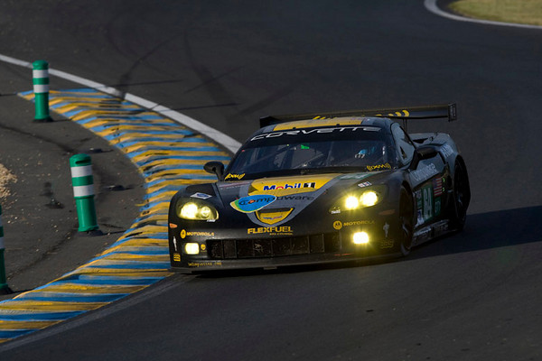 Corvette Racing, 24 Hours of Le Mans, June 13-14, 2009, C6.R #63 driven by Johnny O'Connell, Jan Magnussen, and Antonio Garcia, C6.R #64 driven by Oliver Gavin, Olivier Beretta, and Marcel Fassler (photo credit Richard Prince/GM Racing).