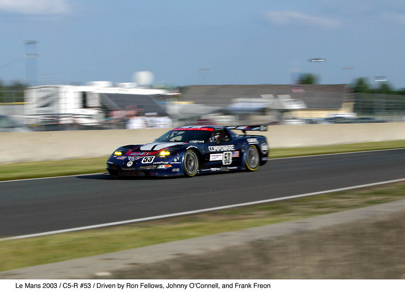 Ron Fellows - Johnny O'Connell - Franck Freon/C5-R, # 53 - Le Mans