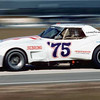 """# 75 - IMSA Finalé, Daytona, Nov, 1974 - John Greenwood. Known as the """"mule"""" car for the development of not only the widebody fenders but Greenwood's new chassis, the car made its first appearance at the Detroit Auto Show in March of 1974 and went on to rrace as # 48 for the balance of that year...with the exception of the Finale where it made its debut as # 75. the car is best known as the # 75 Spirit of Sebring '75 car driven by John Greenwood. The car was actually given chassis # 002 by Greenwood but ran with many different drivers over the next several years."""