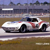 "# 40 - IMSA Finalé, Daytona, November 1973 - Lyndon and David Amick. This is the last of the ""narrow-bodied"" cars. Rules changes permitted more tire and the car was converted to the Van Arnem-Abex-sponsored wide body. Car sold to Dave Fryer, who still owns it."