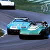 # 23, # 28 & # 3 SCCA AP, 1976 - Steve Strandemo, Joe Pirotta & # 3 Vernon Brown at June Sprints, Road America