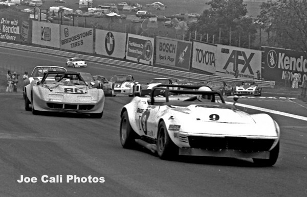 # 80 - FIA / SCCA 1979 6 Hours of the Glen -  Nick Engels follows John Huber # 9 through the esses.