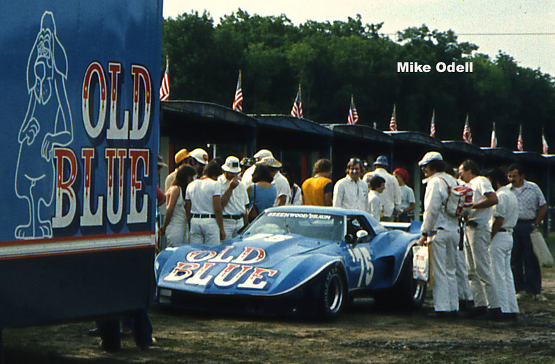"# 75 - SCCA TA, 1975, Road America - Rudy Braun/John Greenwood in ""Old Blue""...a re-iteration of the 1975 Spirit of Sebring '75."