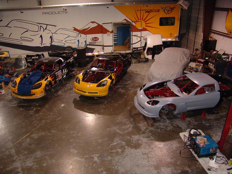 2005-06 - # 28 - 2006 C6 WC cars under const - DSC04315