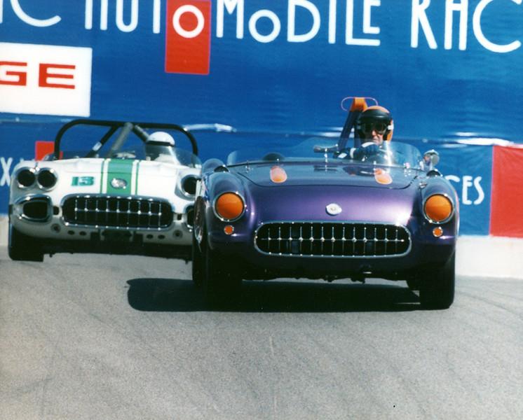 # 6 - GRL, Laguna Seca, 2002 - Paul Reinhart leads # 13 Don Retig