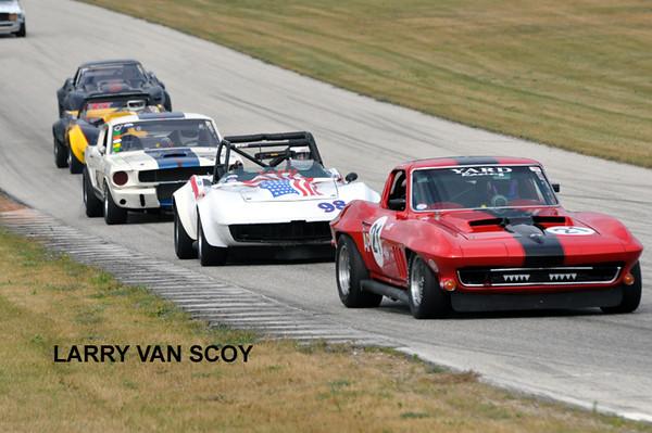 # 21 - SVRA, Road America, 2009 - Bill Todd leads # 98
