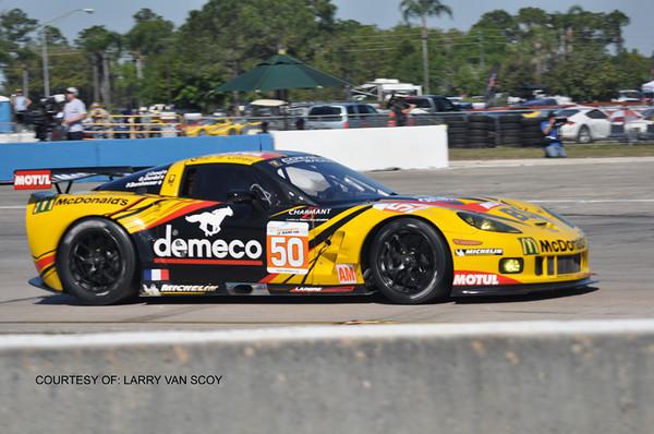 # 50 - ALMS GTE - 2011 - Sebring - Patrick Bornhauser, Julien Canal, Gabriele Gardel - Team Larbre Competition, ex C6R 001